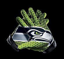 Seahawks Gloves by CBreithaup