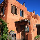 Santa Fe - Adobe Building by Frank Romeo