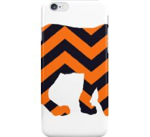 Chevron Auburn Tiger iPhone Case/Skin