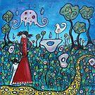 Spring Rain-acrylic by Juli Cady Ryan