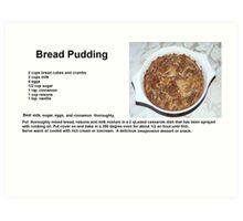 Delicious Bread Pudding Art Print