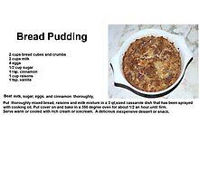 Delicious Bread Pudding Photographic Print