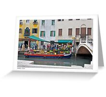 Selling Produce in Venice Greeting Card