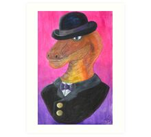 Reginald Gecko ~ Gentleman Theif Art Print