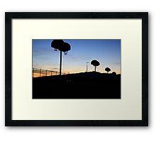 Basketball at Sundown Framed Print