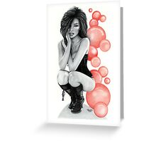 """""""Bubble Boots"""" Greeting Card"""
