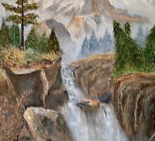 Rocky Mountain Waterfall  by Alanna Hug-McAnnally