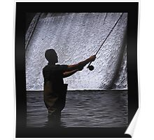 Fly Fishing the Evergreen Lake Dam Poster