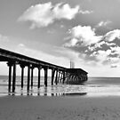 The pier in black and white by Paul Hickson