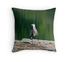 One Legged Stand Throw Pillow