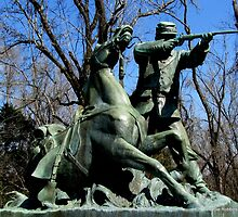 Soldier and Horse at Vicksburg Siege Memorial by Debbie Robbins