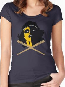 Baseball Furies Skull & Crossbones Women's Fitted Scoop T-Shirt