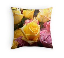 Sympathy Card For Viv Throw Pillow