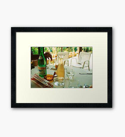 Eat, Drink, Relax Framed Print