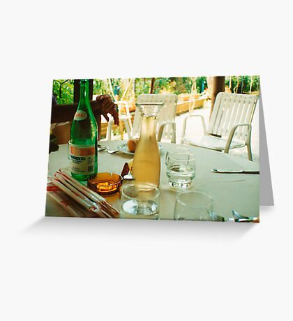 Eat, Drink, Relax Greeting Card