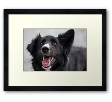 Happiness is just a smile away Framed Print