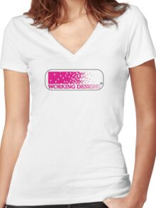 Working Designs Logo Women's Fitted V-Neck T-Shirt