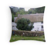 White cottage. Throw Pillow
