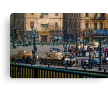 Egypt. Cairo. Tanks on the Streets. Canvas Print
