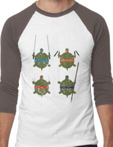 Undefined Age Martial Artist Tortoises Men's Baseball ¾ T-Shirt