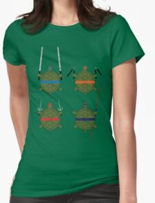 Undefined Age Martial Artist Tortoises Womens Fitted T-Shirt