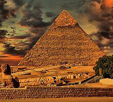 Egypt. Cairo. Giza. Piramide & Sphinx. by vadim19