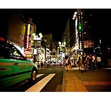 Tokyo Traffic at Night, Japan Photographic Print