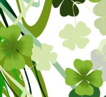 Designer Shamrocks Sticker