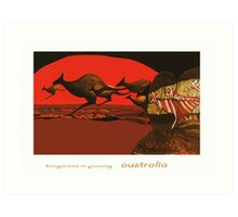 Kangaroos in Passing Art Print