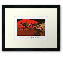 Kangaroos in Passing Framed Print