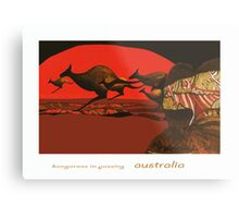Kangaroos in Passing Metal Print