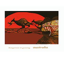 Kangaroos in Passing Photographic Print