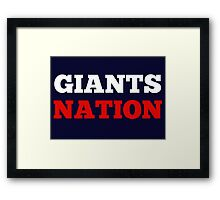 Giants Nation Framed Print