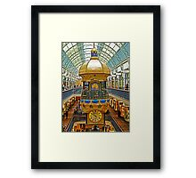 The Great Australian Clock at QVB Framed Print