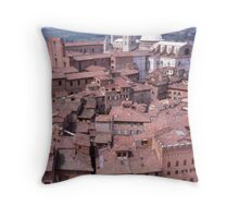 Rooftops, Siena, Tuscany, Italy. Throw Pillow