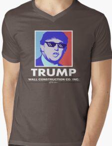 Trump Wall Construction Company Mens V-Neck T-Shirt