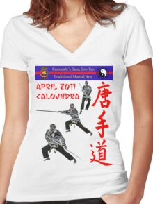 April 2011 Women's Fitted V-Neck T-Shirt