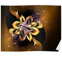 Golden Pansy Poster