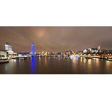 The London Eye and the River Thames Photographic Print