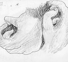 hands -(040311)- black biro pen/A4 sketchbook by paulramnora