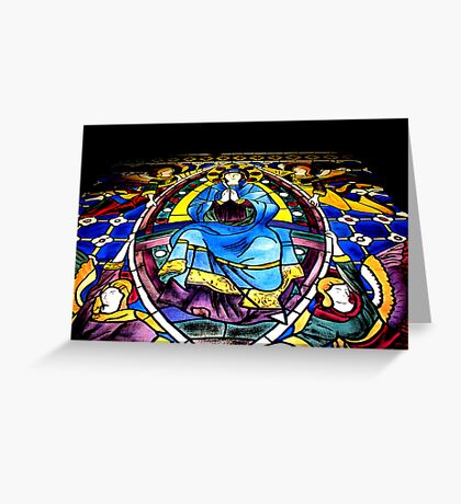 Stained Glass Painting Greeting Card