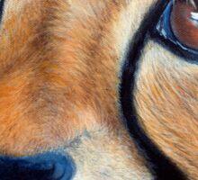 Cheetah Cub - Acrylic Painting Sticker