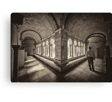 Exploring Cloisters Canvas Print