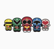 Chibi-Fi Super Sentai Goranger One Piece - Short Sleeve