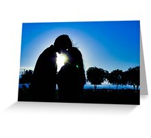 Silhouette Couple Greeting Card