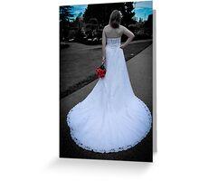 Beautiful Wedding Gown Greeting Card