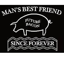 Future Bacon - white design Photographic Print