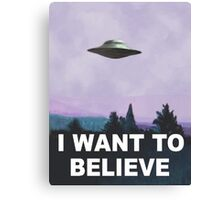 I want to believe (purple) Canvas Print