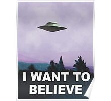 I want to believe (purple) Poster