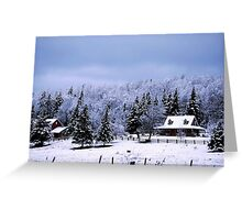 A Rural Winter Greeting Card